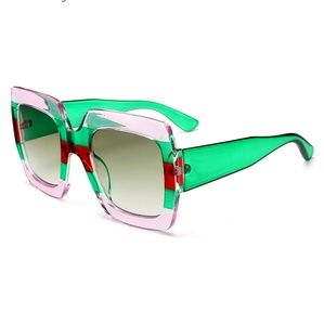 Accessories - NEW Oversized multi color framed sunglasses